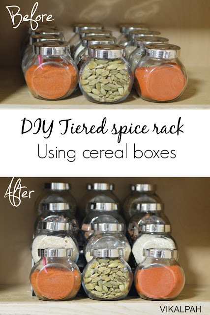 how to build a spice rack for kitchen cabinets using cereal box. Meaningful cereal box crafts.
