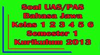 soal uas bahasa jawa kelas 1 2 3 4 5 6 sd semester 1 kurikulum 2013