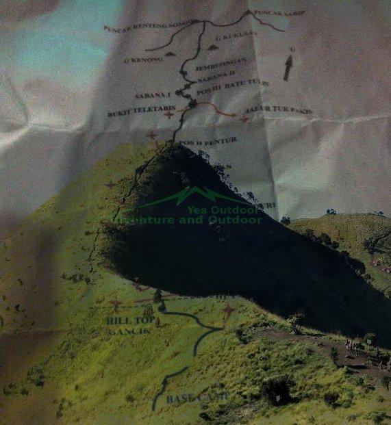 Peta pendakian gunung Merbabu via Selo Baru