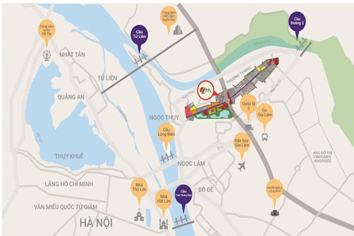 Vị trí Dự án Khai Sơn City Long Biển