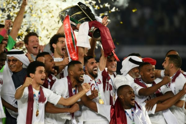 Qatar's players with the Asian Cup: Hostile Gulf neighbours envious