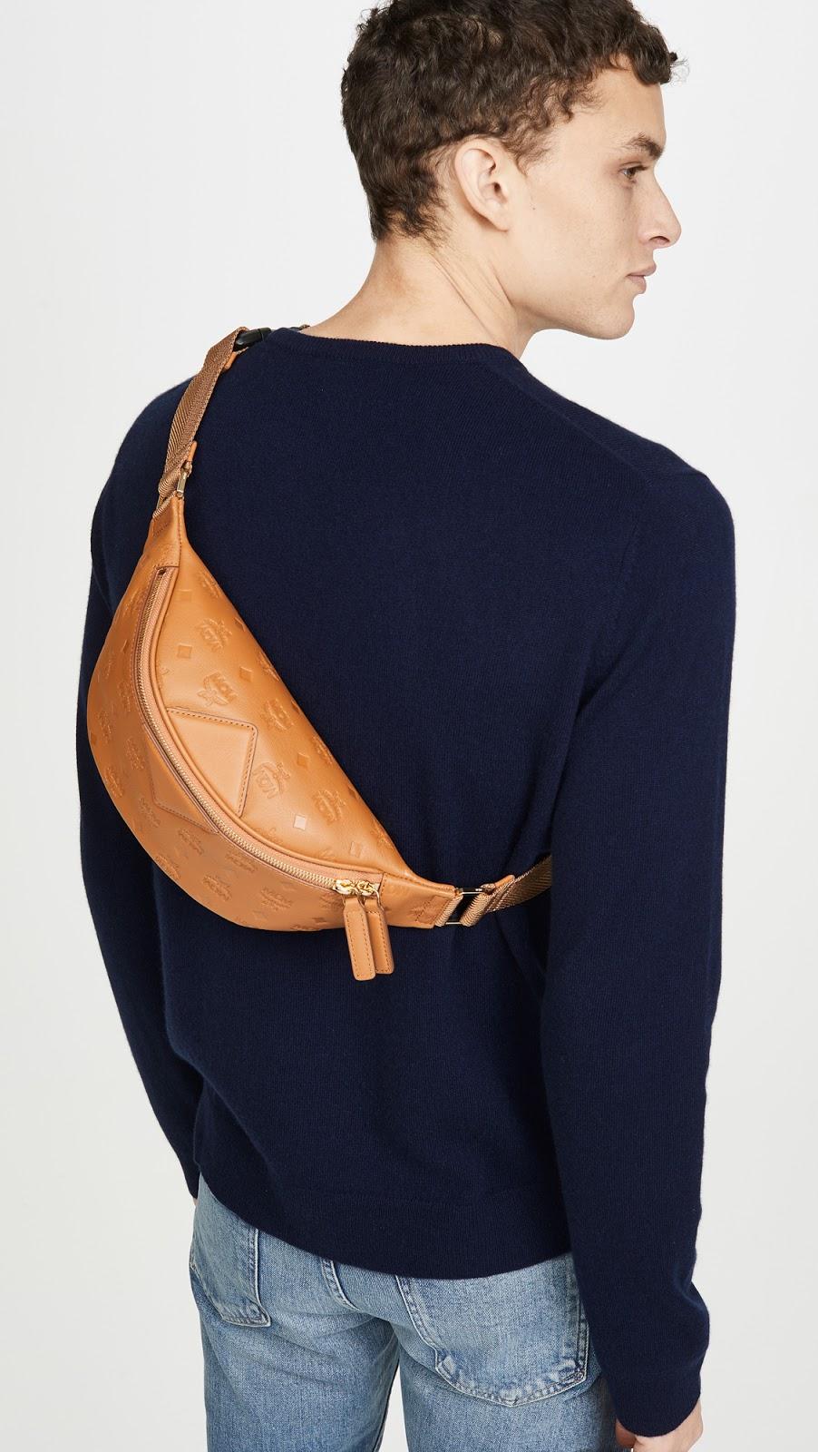 MCM |Fursten Monogrammed Leather Small Belt Bag