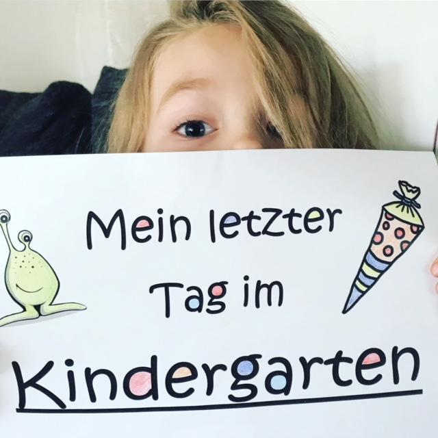Der letzte Tag im Kindergarten