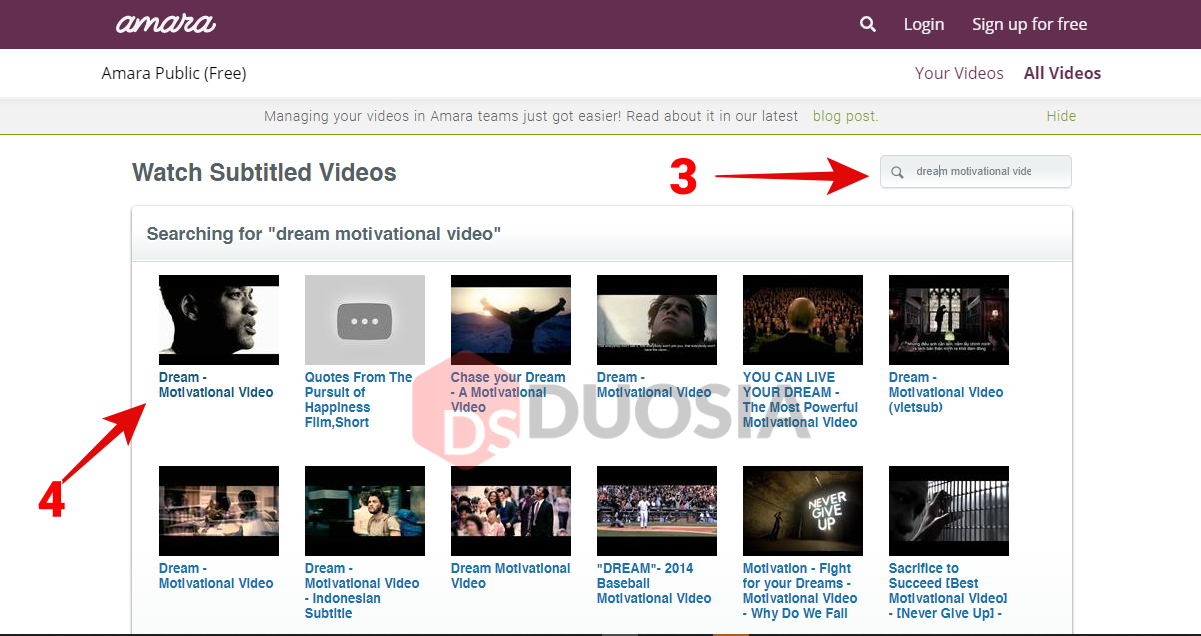 Cara Mengunduh Subtitle CC Youtube Tanpa Aplikasi di Amara.org