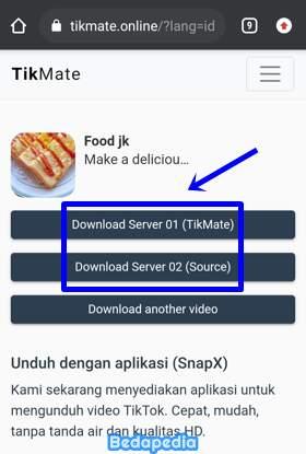 memilih server