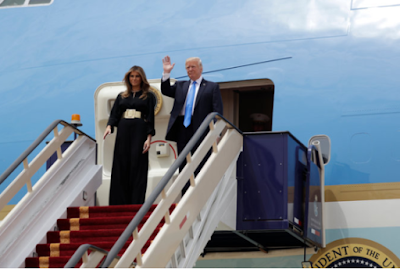 Donald Trump Makes First Overseas Visit To Saudi Arabia