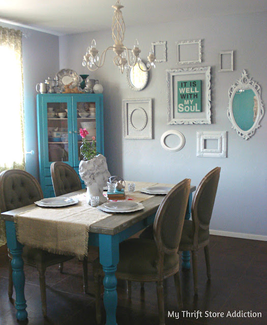 Painted dining room and gallery wall update