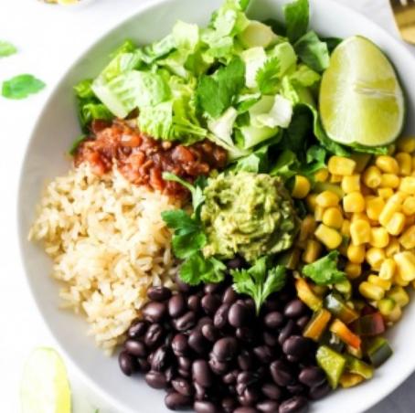 Vegan Burrito Bowl #vegetarian #bowl #vegan #snack #easy
