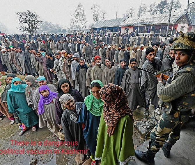 There is a dangerous political vacuum in Kashmir'