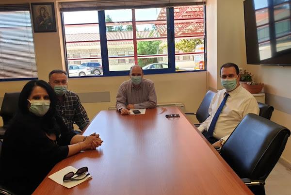 Με την Διοίκηση του Νοσοκομείου Λαμίας συναντήθηκε το Εργατοϋπαλληλικό Κέντρο Φθιώτιδας