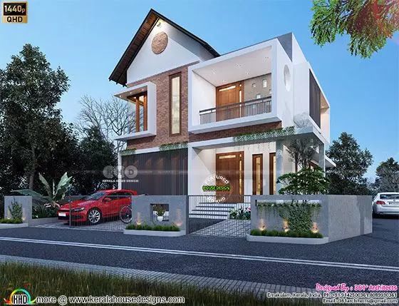$50 cost estimated modern house in Quad HD 3d rendering