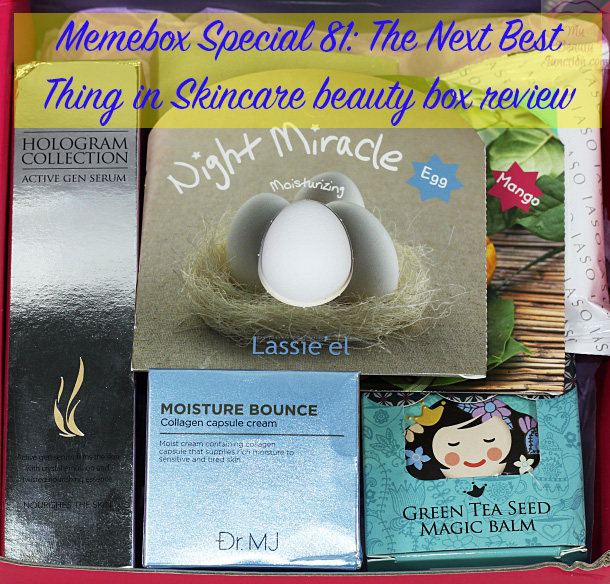 Memebox 81 Next Best Thing in Skin Care review, unboxing