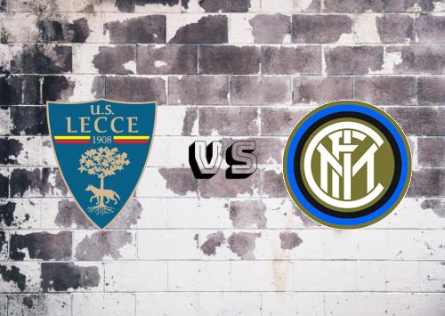 Lecce vs Internazionale  Resumen y Partido Completo