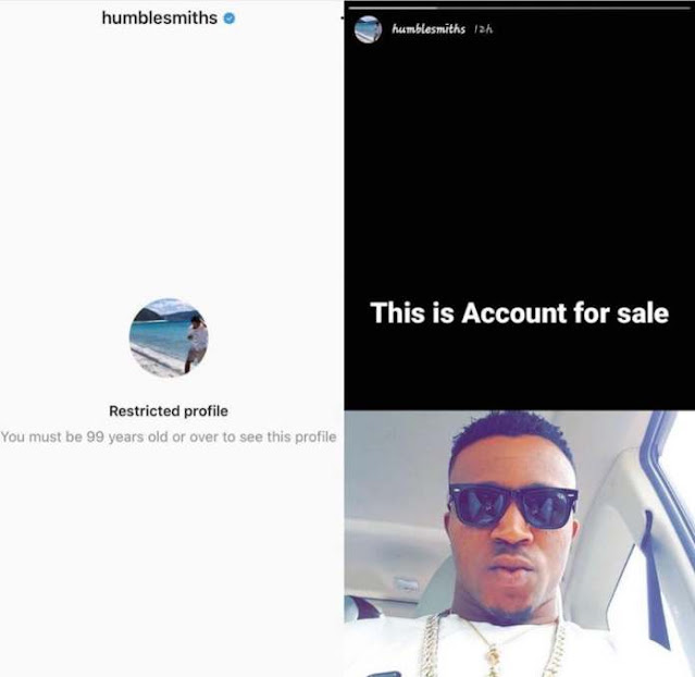 Hacker put Humble Smith's Instagram account up for auction at N180k