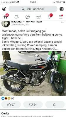 Modifikasi Megapro menjadi RX king