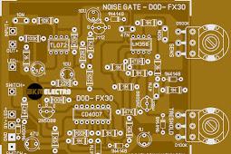 PCB Layout Noise Gate untuk Gitar DOD FX 30