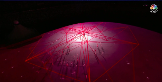 Tokyo 2021 Olympics Opening Ceremony red strings
