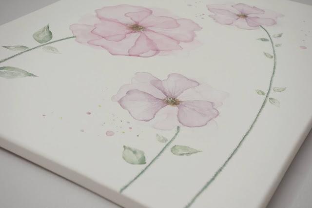 jak namalować kwiaty akwarelami