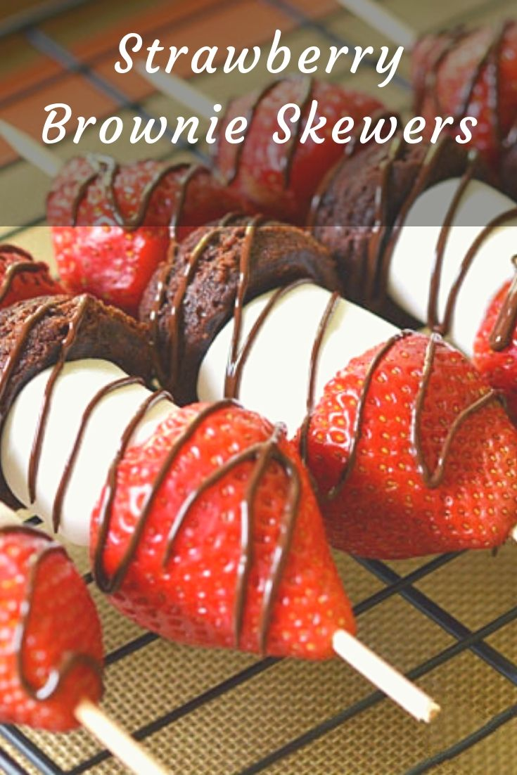These strawberry brownie skewers are a great single serving dessert! They take about 10 minutes to put together and best of all, the clean up is super easy!