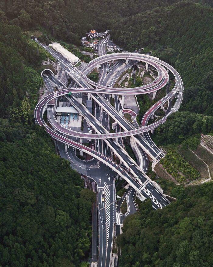 Transport interchange near Tokyo