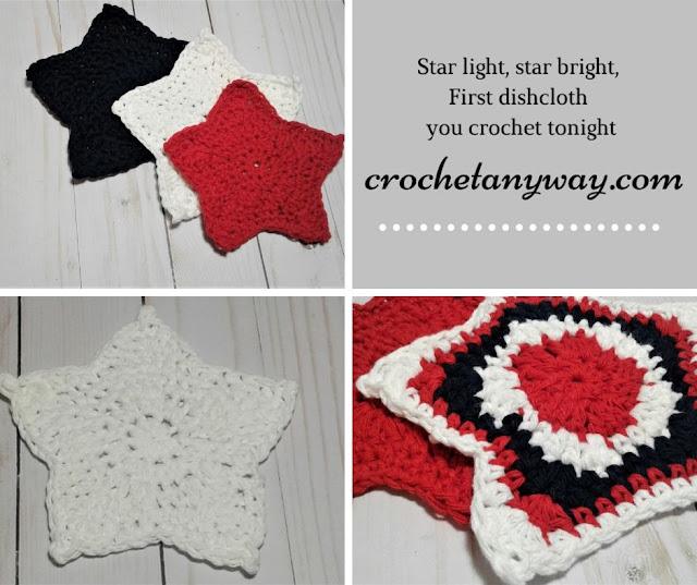 red star dishcloth, white star dishcloth, red, white and blue crochet star dishcloth