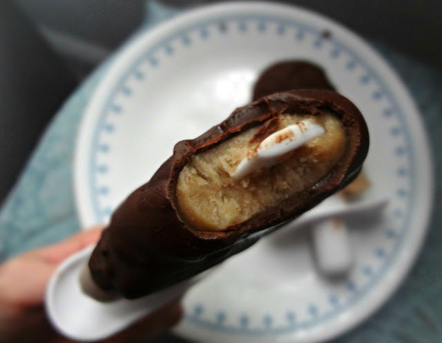 Chocolate Covered Peanut Butter Banana Pops