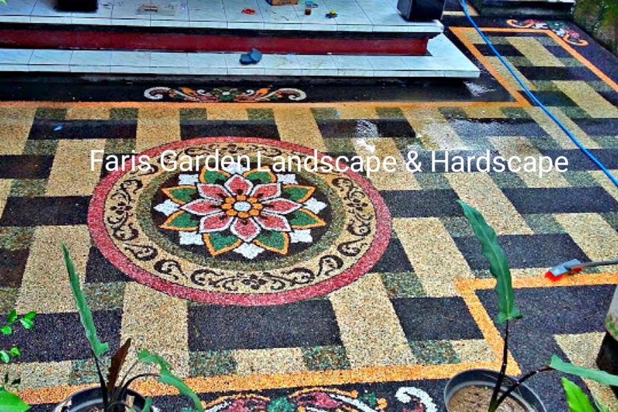 Jasa Tukang Batu Sikat Carport Sukoharjo | Jasa Pembuatan Lantai Carport Batu Sikat di Sukoharjo