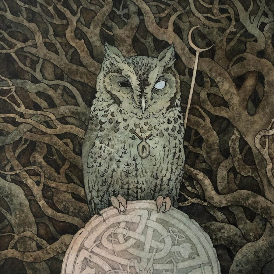 03-The-wise-and-all-knowing-Owl-Lily-Seika-Jones-www-designstack-co