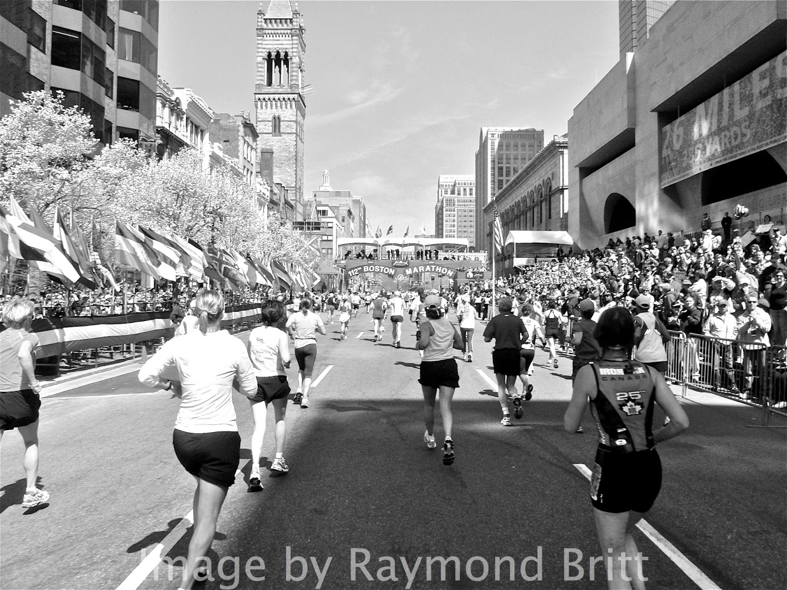 RunTri: Boston Marathon Finish Line on Boylston Street: The Runner's