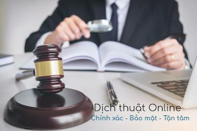 dịch thuật chuyên ngành pháp lý, pháp luật