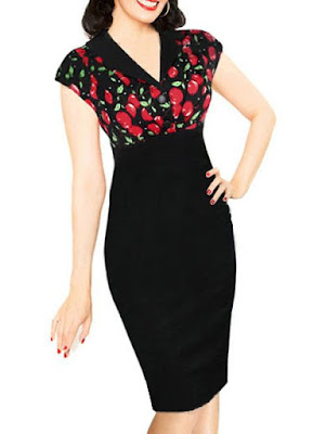 pinup, dress, rockabilly, autumn, shopping