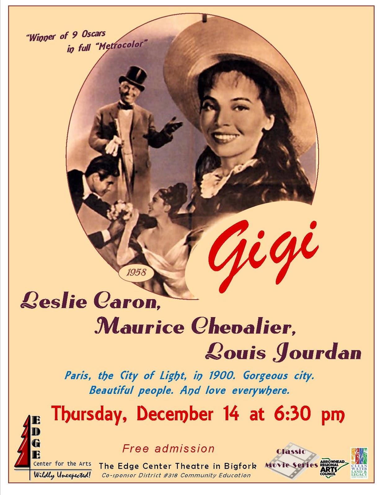 """Edge Center for the Arts: """"Gigi"""" is the December Film ..."""