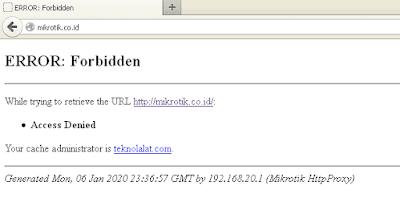 Cara Blokir Situs MikroTik Web Proxy