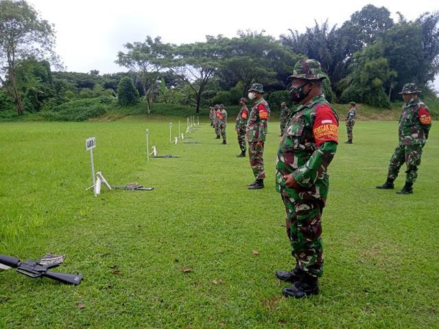 Asah Kemampuan, Danramil 08/Siantar Kodim 0207/Simalungun Laksanakan Latihan Menembak
