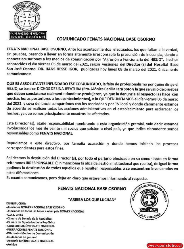 Fenats Nacional Base Osorno