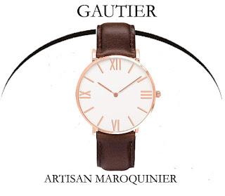 bracelet de montre personnalisé,sur-mesure,gautier maroquinier