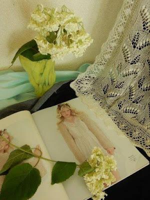 gebreidesjaals, gebreide bruidssjaals.