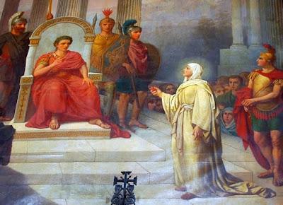 Η Μαρία η Μαγδαληνή στον Καίσαρα