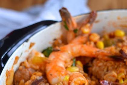 Creole Jambalaya with Chicken, Shrimp, and Andouille Sausage Recipe