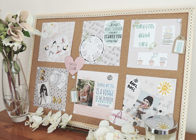 Mood board or vision board. To help motivate, inspire and stay focused.