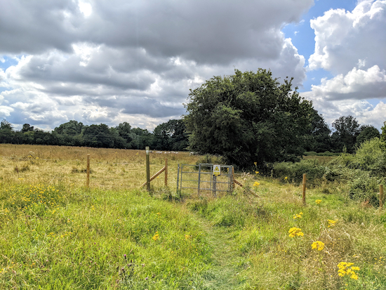 Ickleford footpath 20, also the Hicca Way, between points 9 & 10