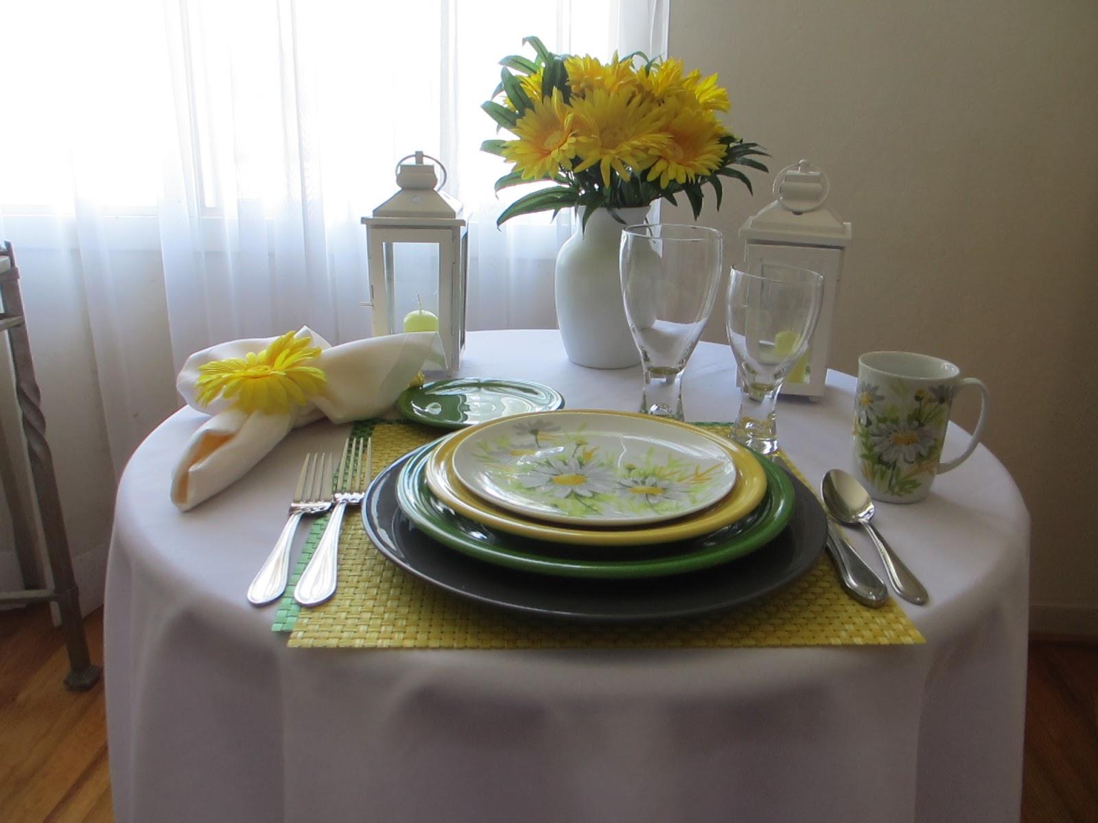 Fiestaware And Daisies