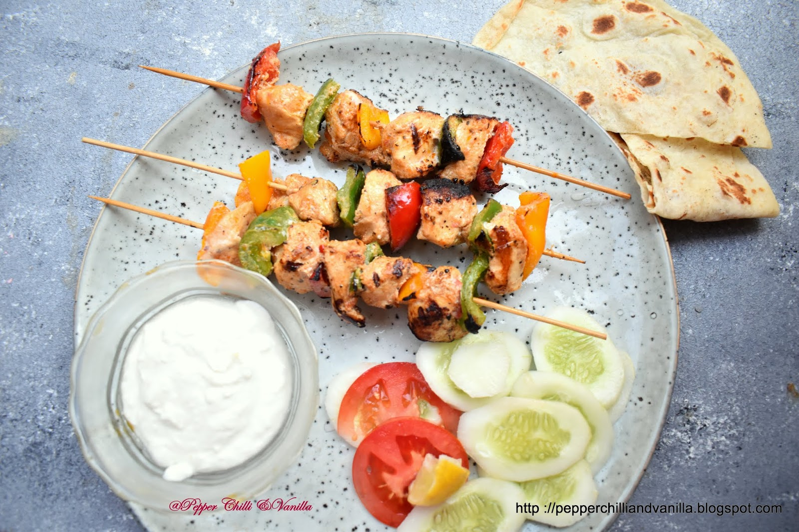 arabian grill chicken skewer