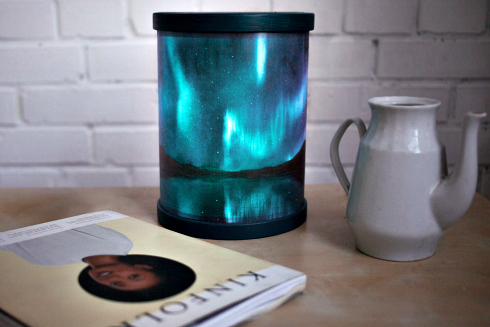 Aurora Borealis LED paper night lamp