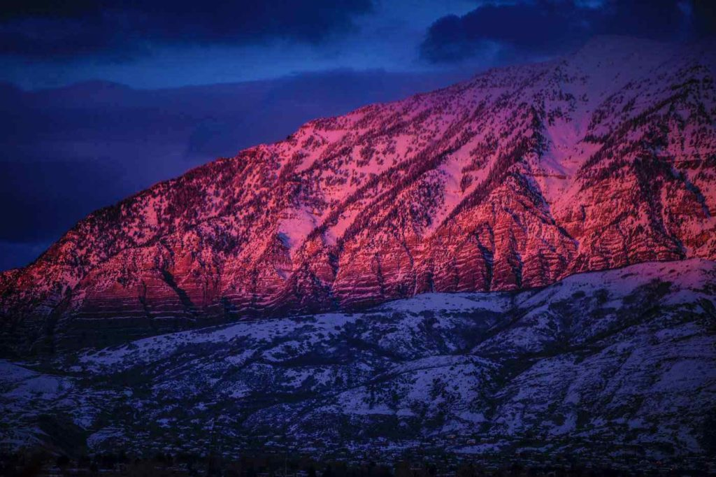 Sunrise on mountain in Provo, Utah - Best things to do in Provo Utah