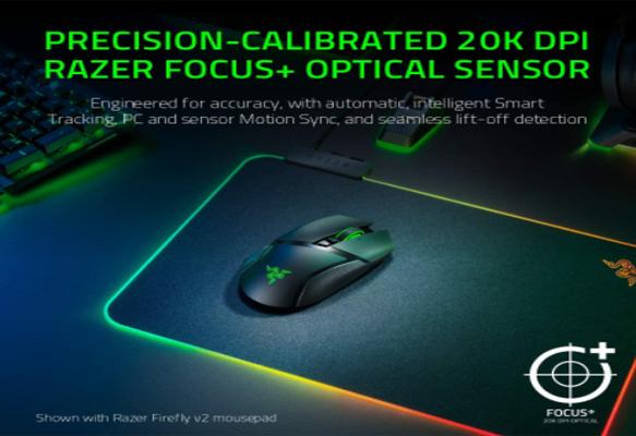 20k DPI Razer Focus+ Optical Sensor