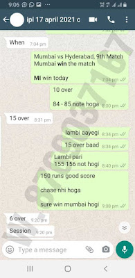 IPL Last Match reports for our paid premium clients