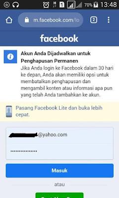 Menghapus Akun Facebook Secara Permanen Di Android dan PC