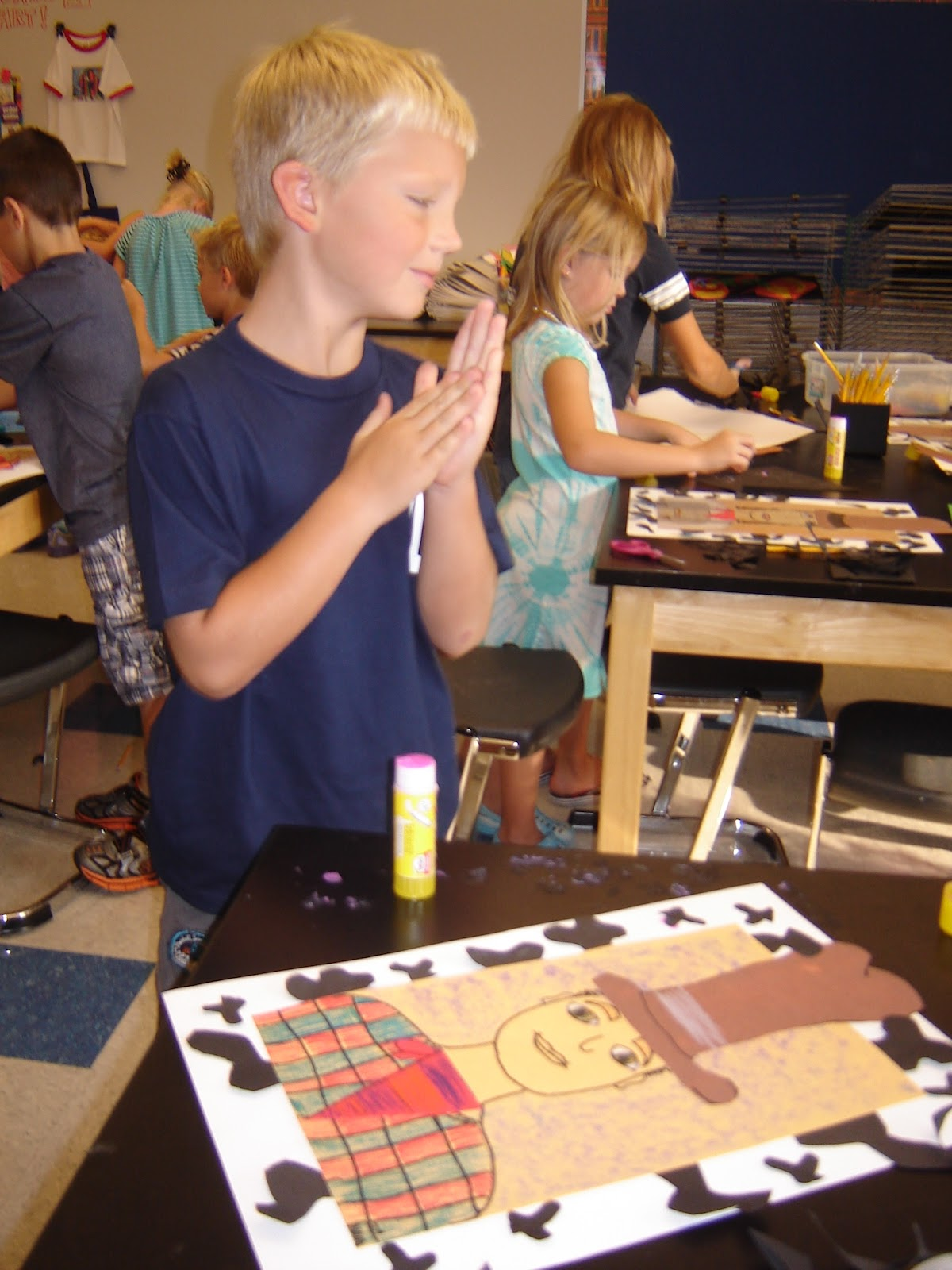 Jamestown Elementary Art Blog 2nd Grade Cowboys And Cowgirls