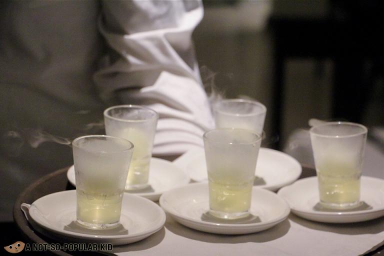 Lime/calamansi Sherbet Palate-Cleanser Bistro Manuel